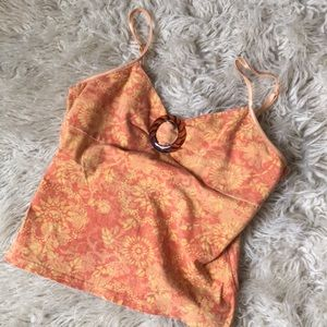 Peach and orange tank with tortoise clasp :-)